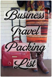 BusinessTravelPackingList